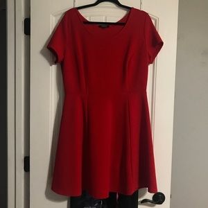 Red Fit & Flare Dress